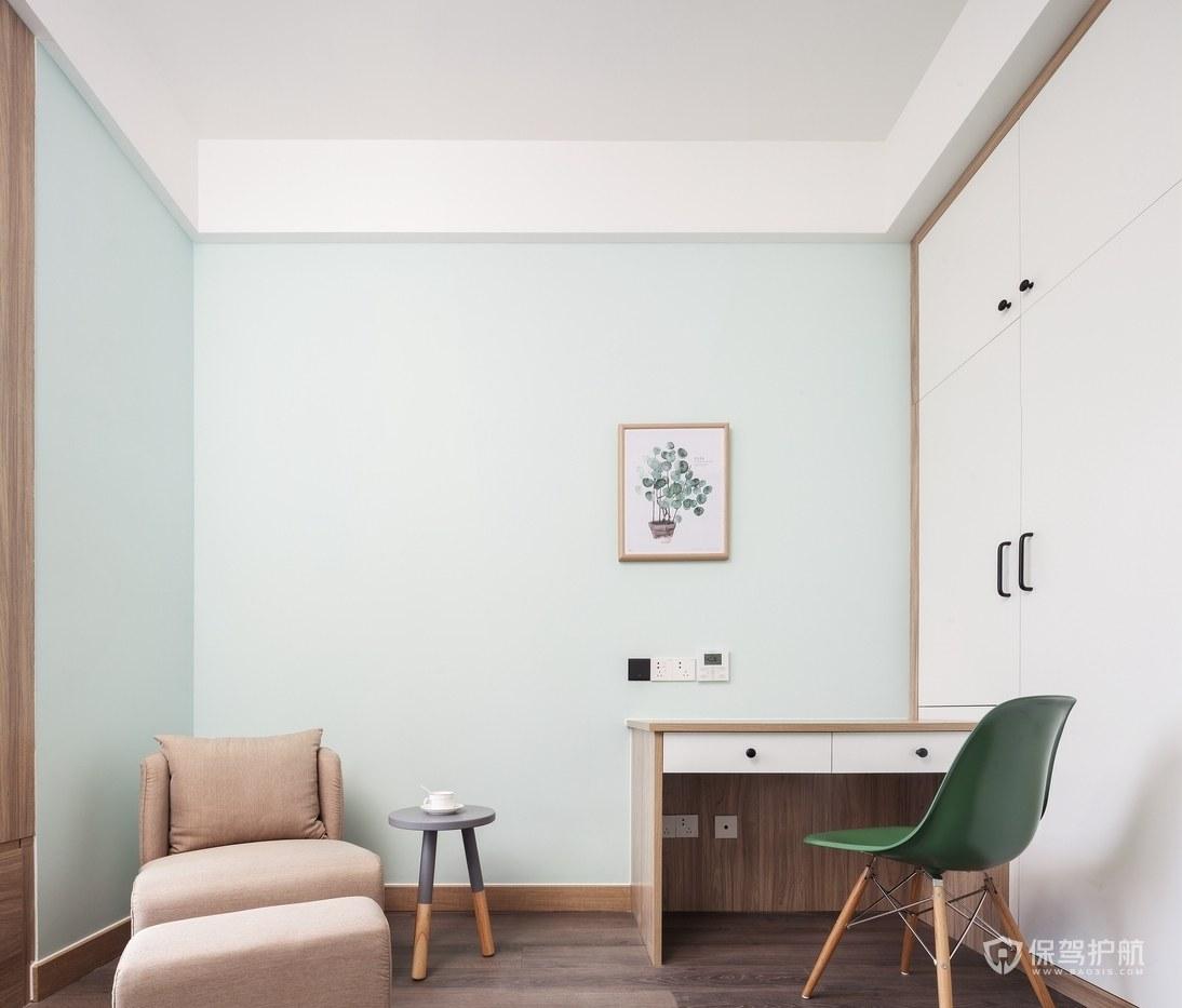 北欧极简风两室书房装修效果图