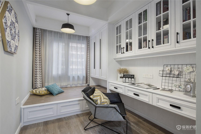 120平简约美式风格三居室书房装修效果图