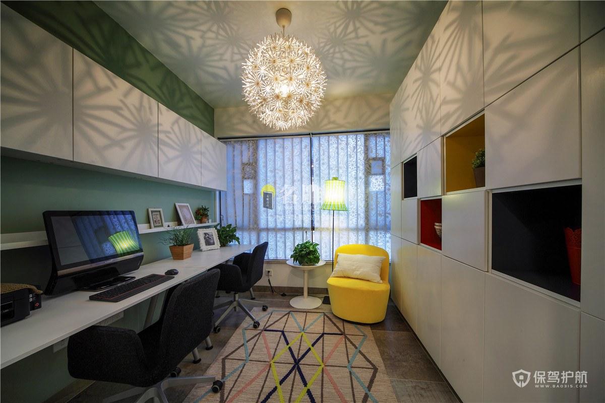 几何北欧风三居室书房装修效果图