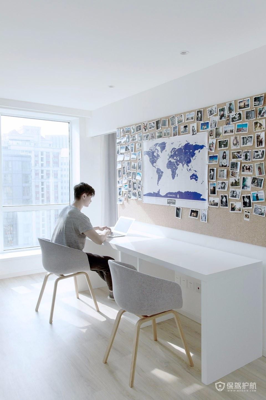 极简风两室书房装修效果图