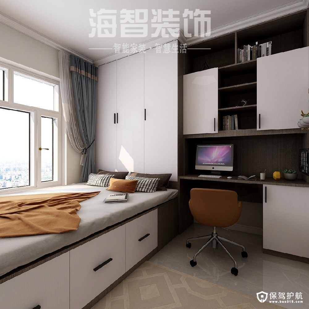 九重锦现代风格三居室装修效果图