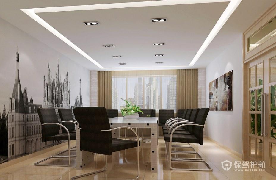 后现代时尚公司会议室装修效果图