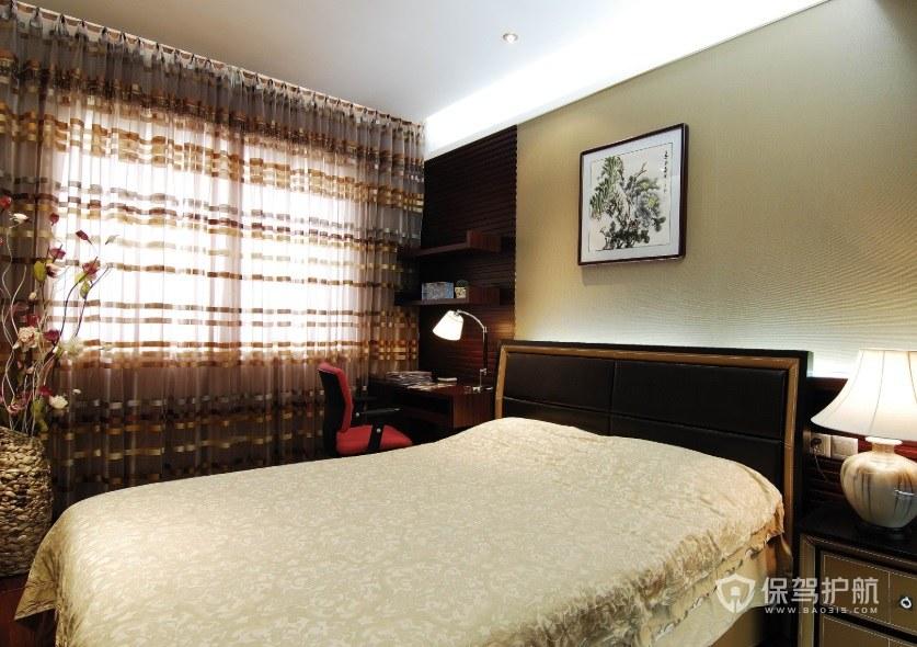 中式田园风卧室编织花瓶装饰效果图