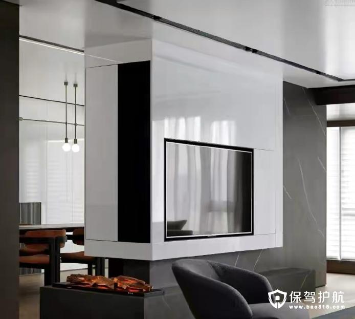 华清学府城110平现代黑白灰风格三居室装修效果图