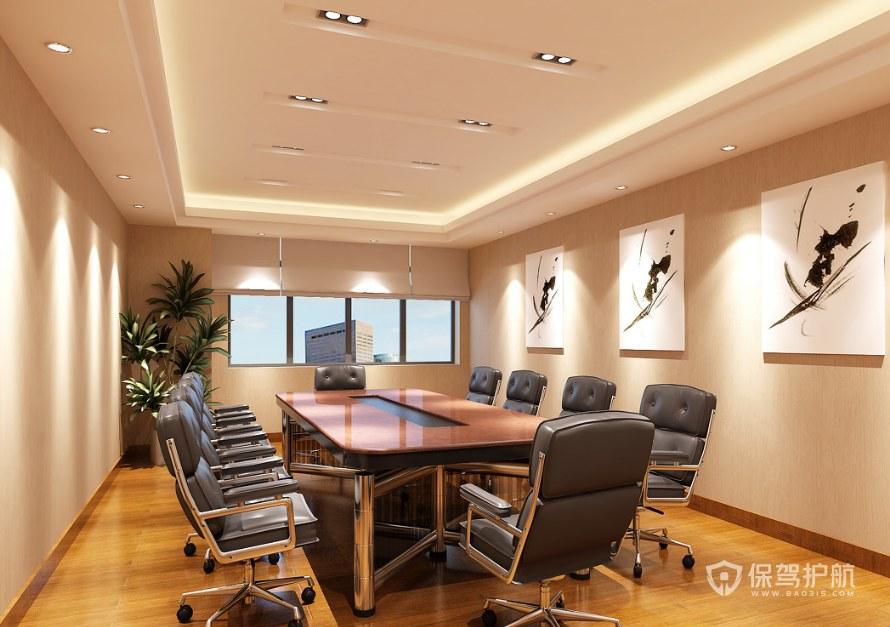 清新暖色办公会议室装修效果图