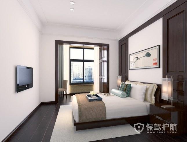 新中式古典風臥室陽臺改造辦公區裝修…