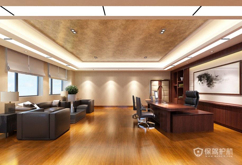 现代工业风老板办公室装修效果图