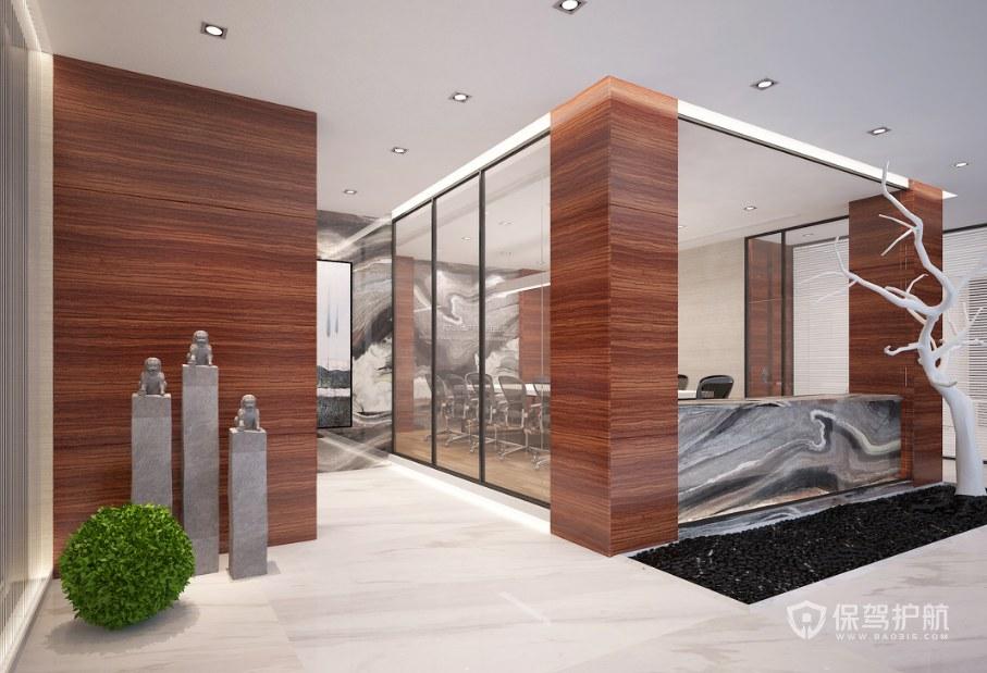 新中式创意办公室走廊装修效果图