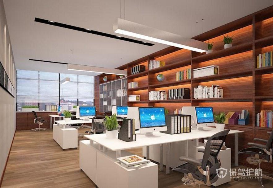 新中式创意办公区装修效果图