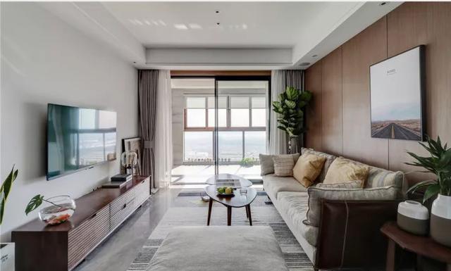 死黨買102㎡新房,陽臺比客廳大,全屋北歐風看起來太棒了