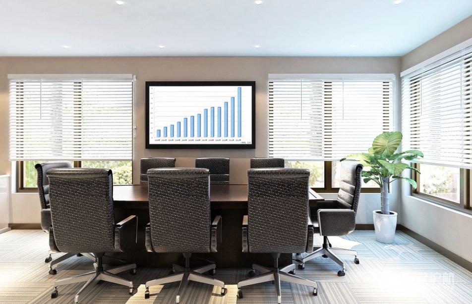 建筑公司办公会议室装修效果图