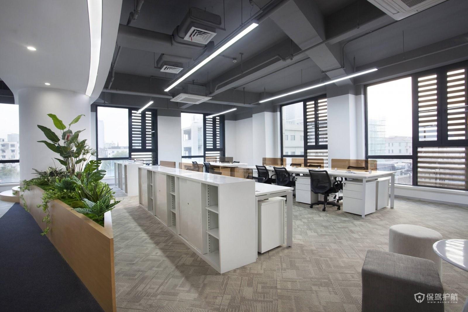 200平办公室设计效果图-保驾护航装修网