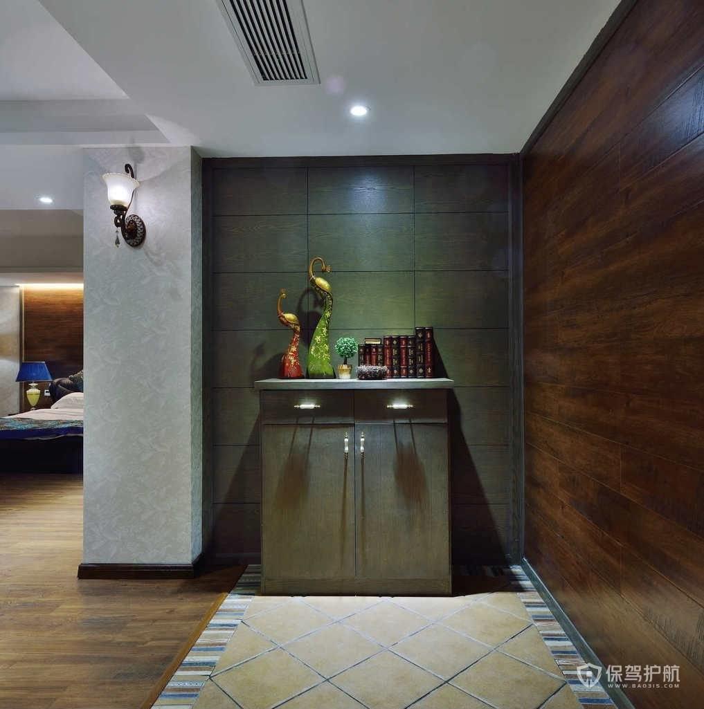 中式风格三房玄关装修效果图