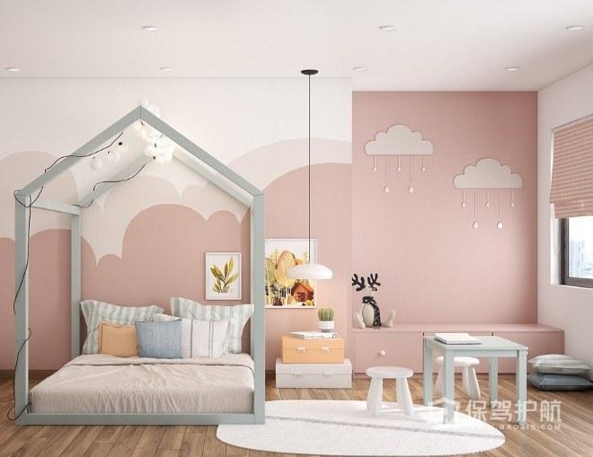日式可爱风儿童房床装修效果图