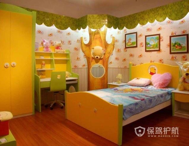 28平森林主题儿童房装修效果图