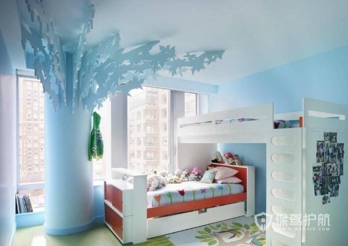 森系可爱风儿童房装饰树装修效果图
