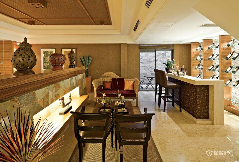 東南亞風格四居室餐廳裝修效果圖