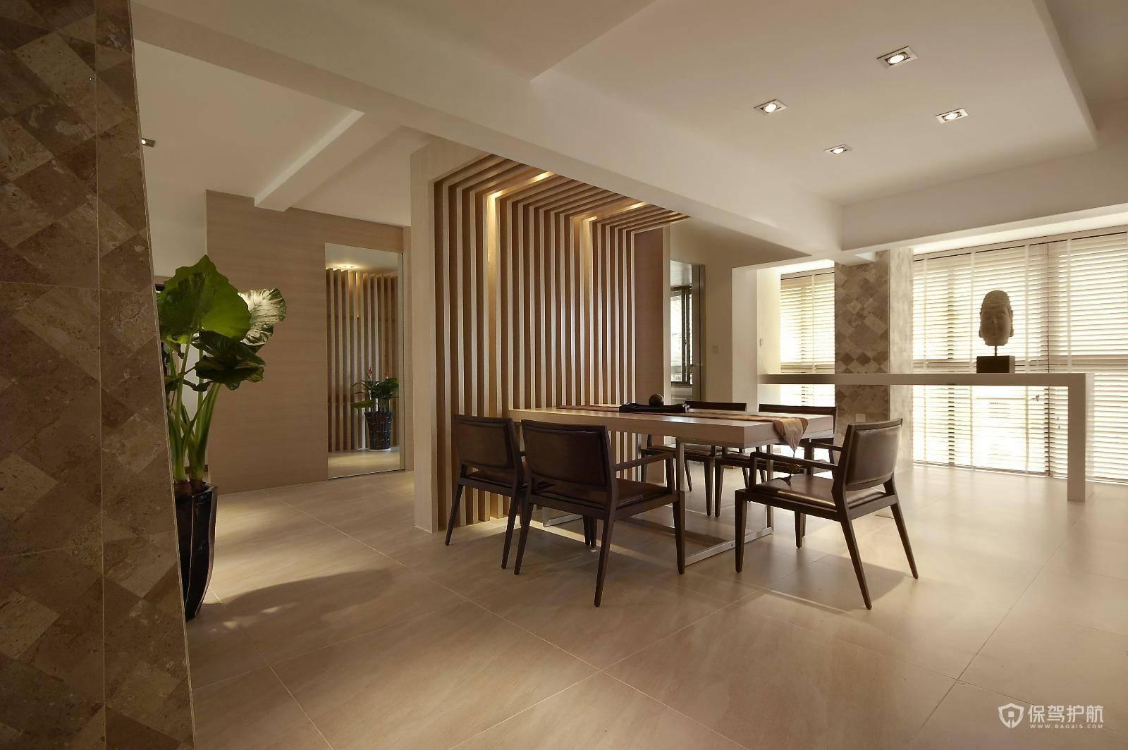 簡約東南亞風格三居室餐廳裝修效果圖…