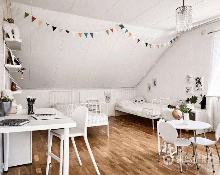 北歐極簡風閣樓兒童房裝修效果圖