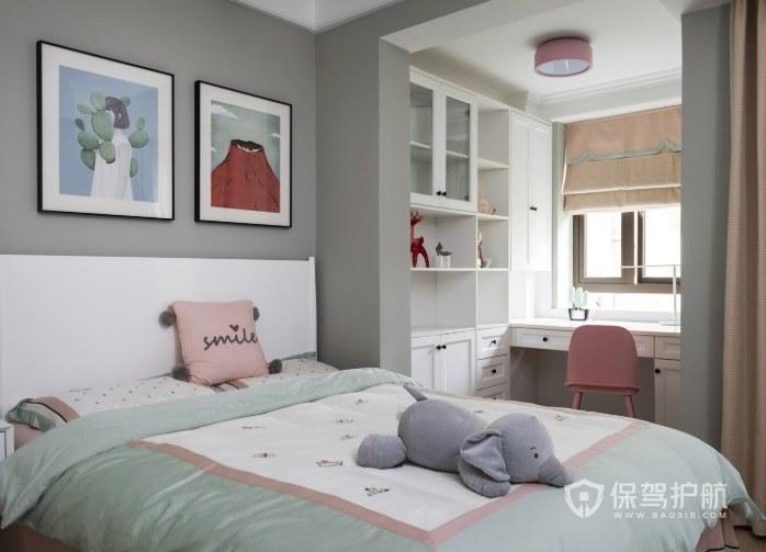 陽臺改造讀書區兒童房裝修效果圖