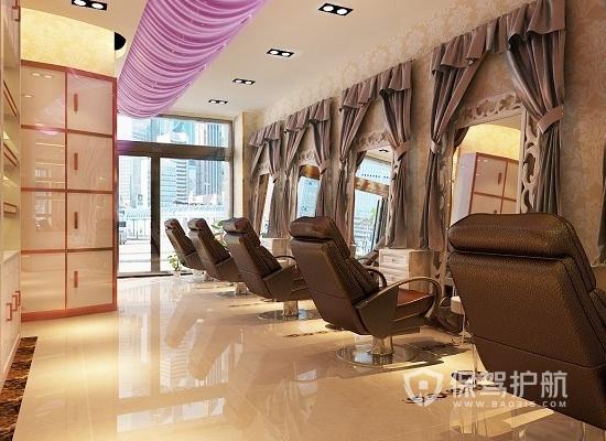 45平米現代風格美容院裝修實景圖