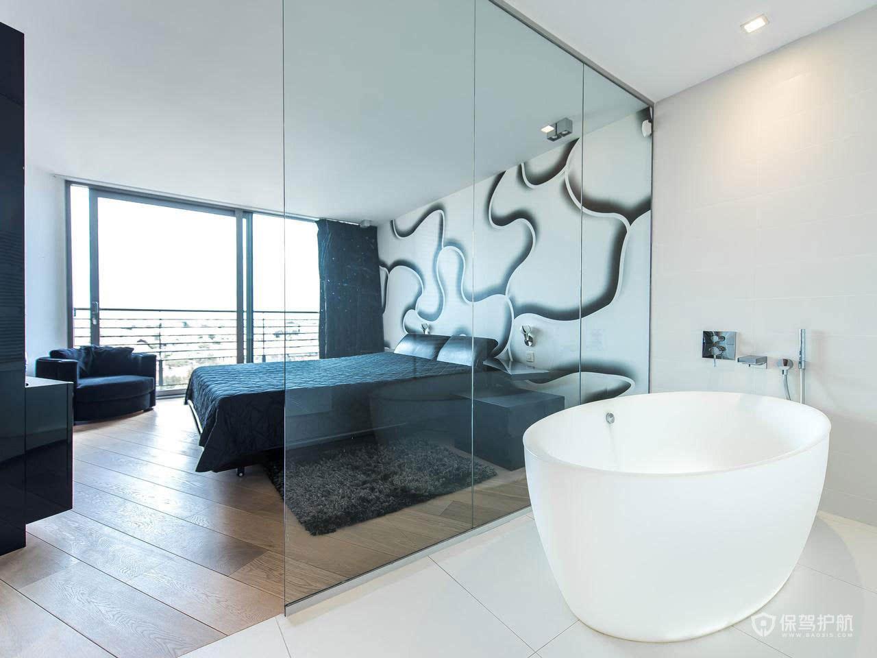 臥室與衛生間隔斷設計 臥室與衛生間隔斷效果圖