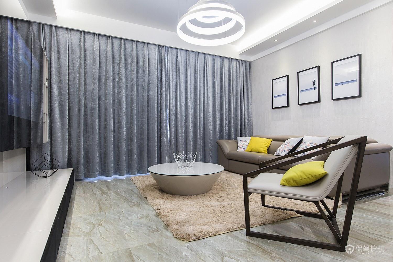 現代簡約風格二居室客廳裝修效果圖