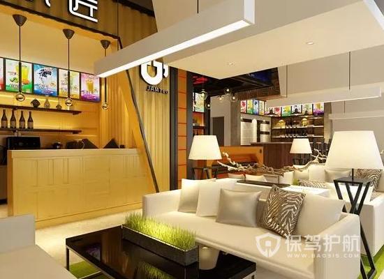 90平米現代風格奶茶店裝修實景圖