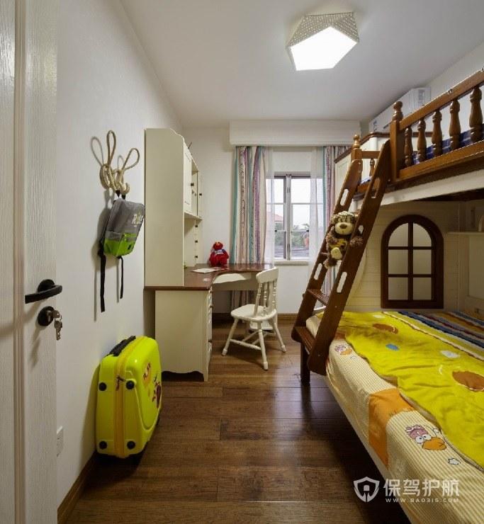 別墅歐式兒童房實木上下床裝修效果圖