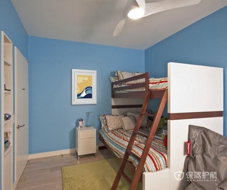 12平簡約兒童房白色木門裝修效果圖