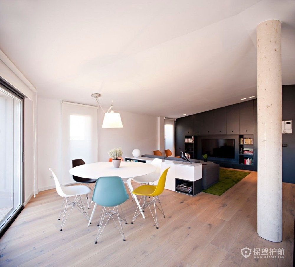 現代極簡風公寓餐廳裝修效果圖