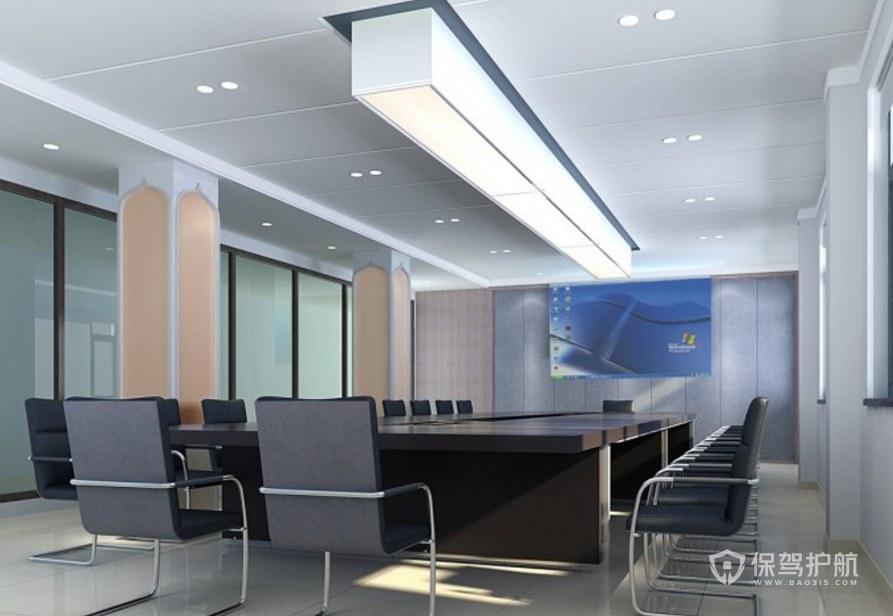 極簡主義辦公會議室裝修效果圖