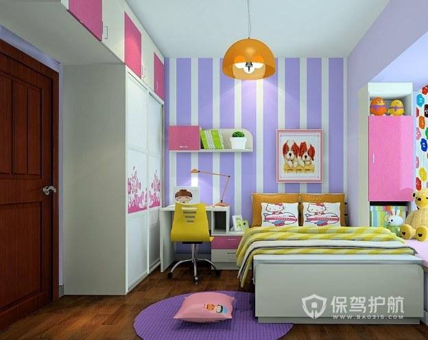 9平簡約可愛兒童房飄窗裝修效果圖