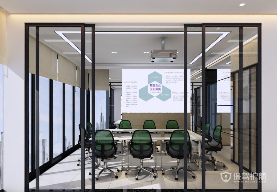 北歐風辦公會議室裝修效果圖