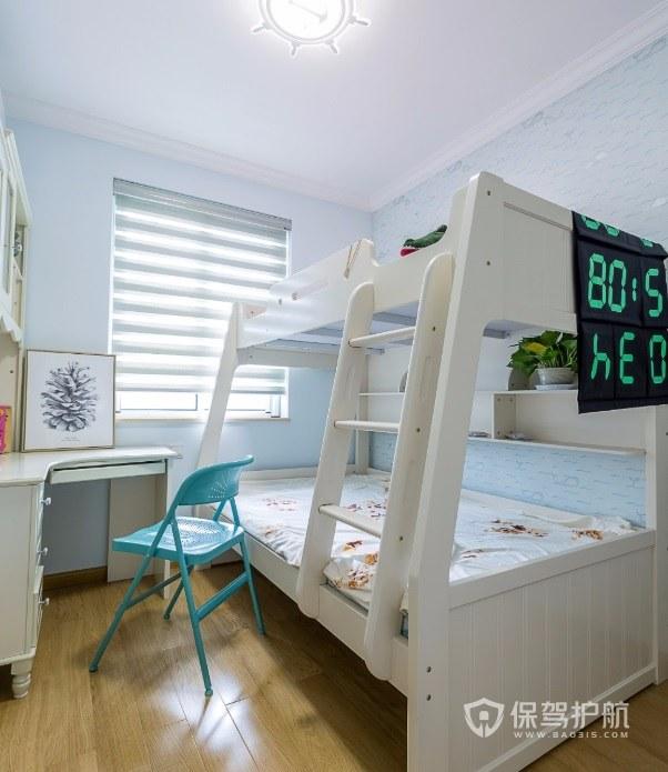 北歐風7平兒童房上下床裝修效果圖