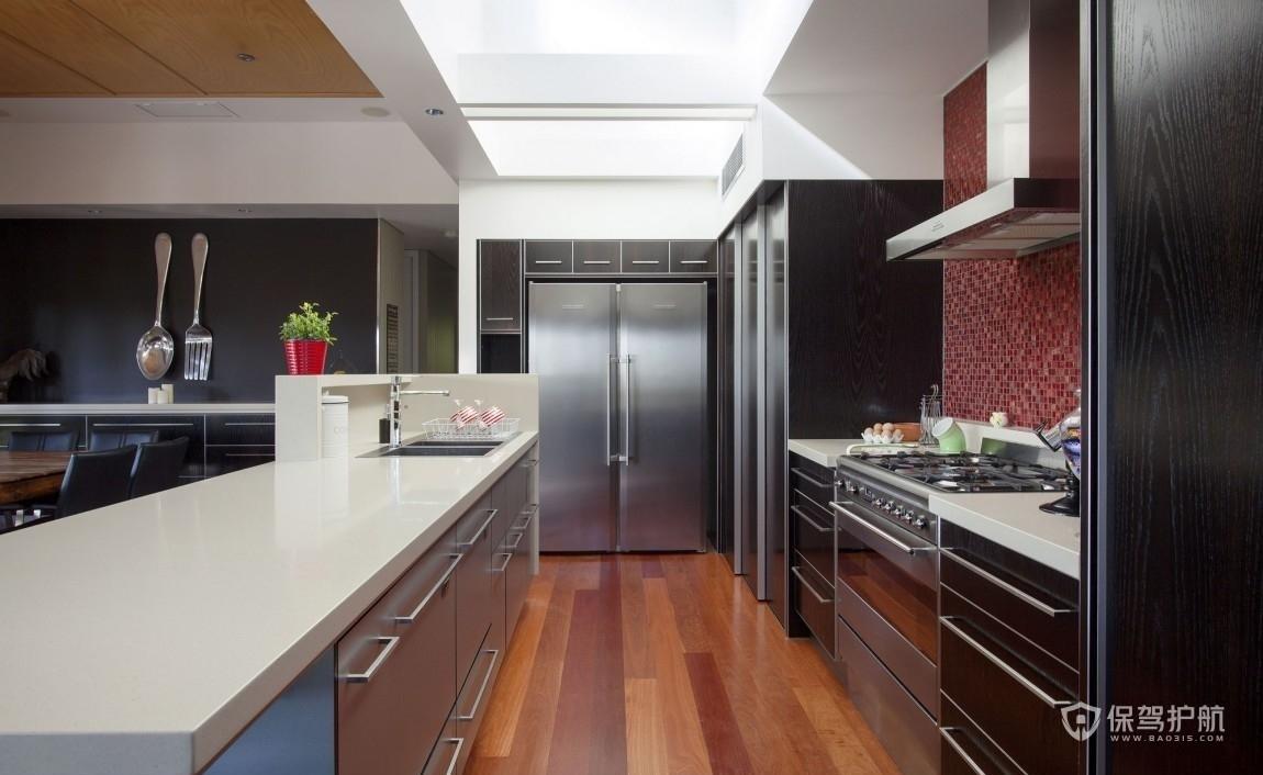 美式風格公寓廚房裝修效果圖