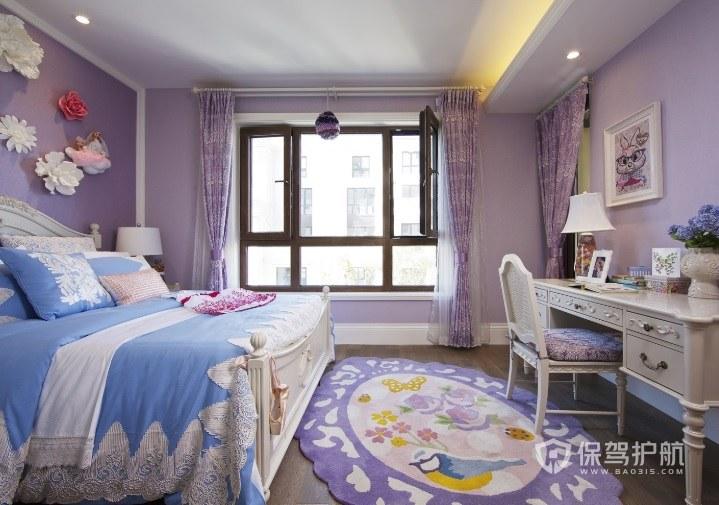 140平四室法式兒童房裝修效果圖