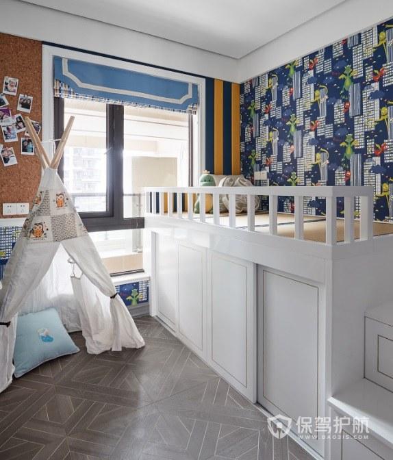 復式樓法式混搭風兒童房裝修效果圖