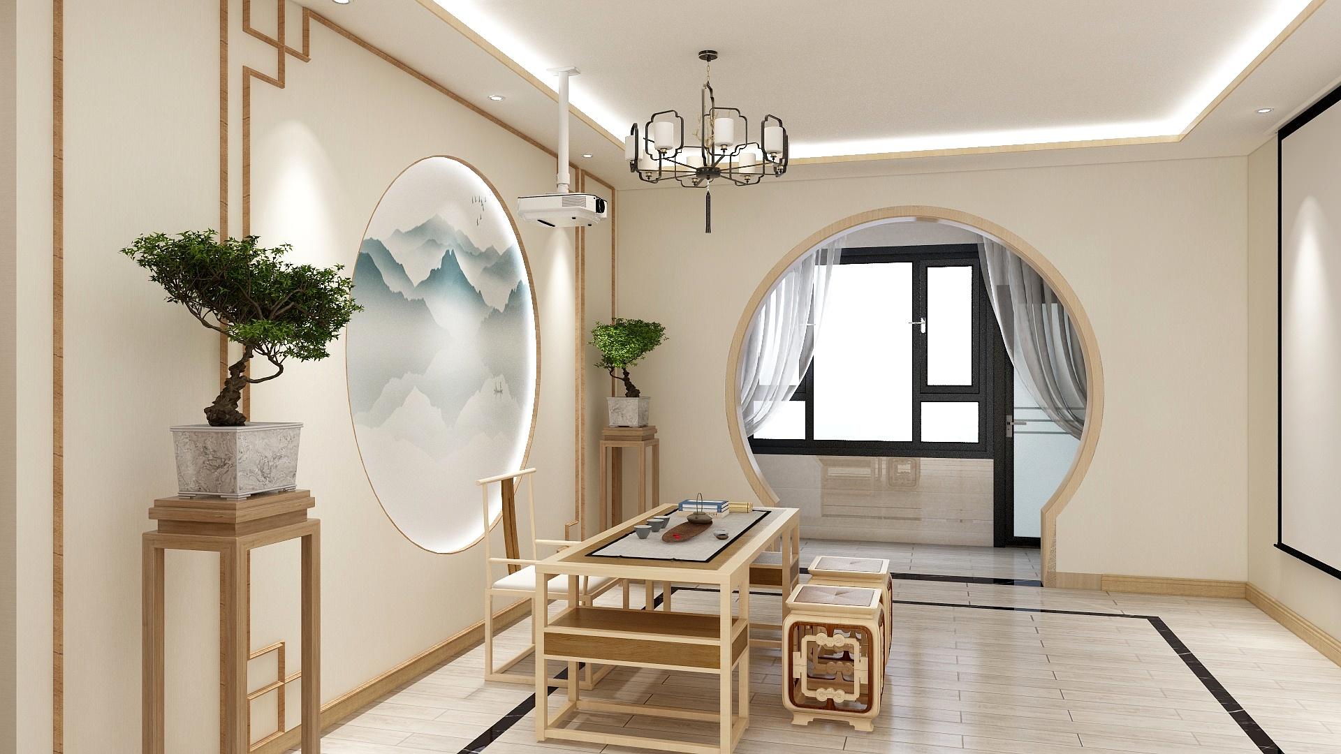 现代中式风格  三居室   125平