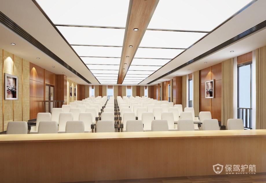 开放式多媒体会议室装修效果图