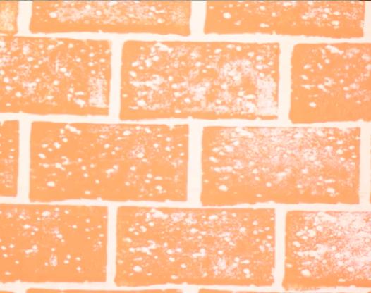 为了省钱做的仿砖背景墙,竟有些好看!