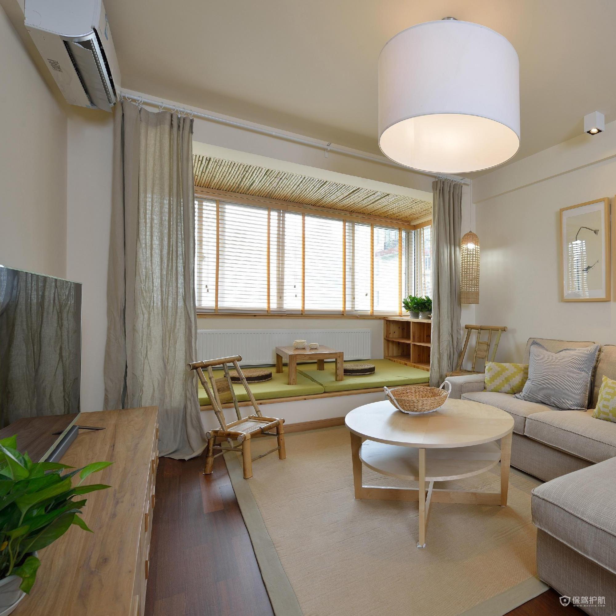 77平日式清新二居室客廳裝修效果圖