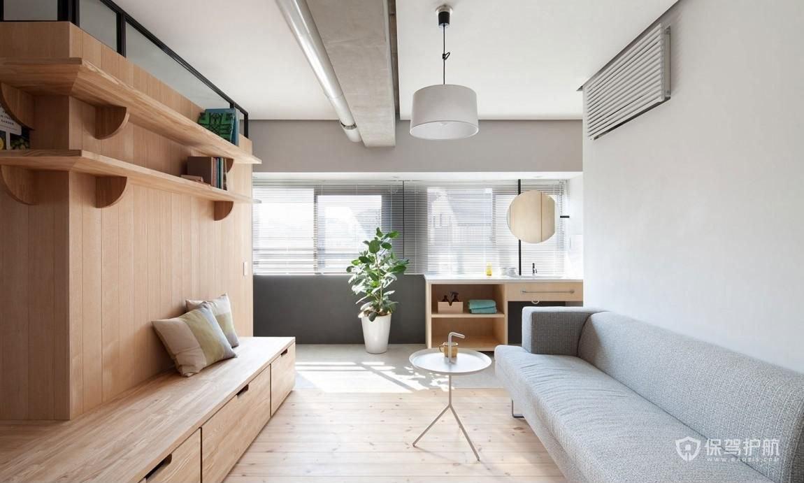 50平创意日式公寓客厅亚搏体育平台app效果图