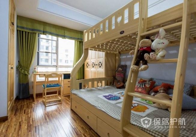 120平中式儿童房高低床亚搏体育平台app效果图