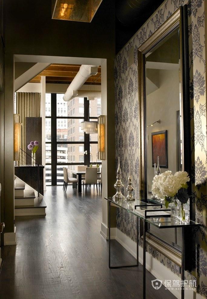 新古典风格复式楼玄关装修效果图