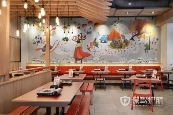韩式餐厅怎么装修?韩式餐厅装修效果图