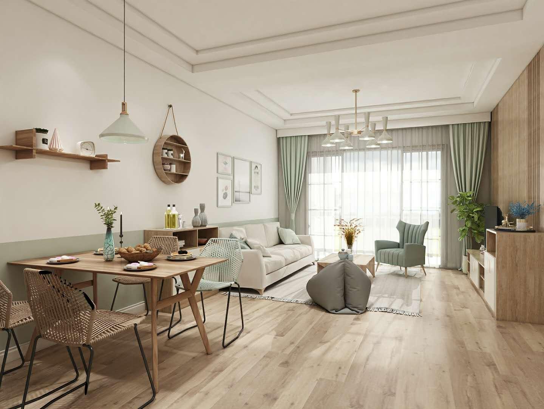 木色田园风格二居室装修效果图