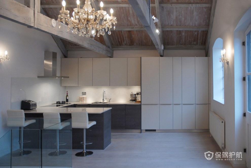 后现代风格公寓厨房装修效果图