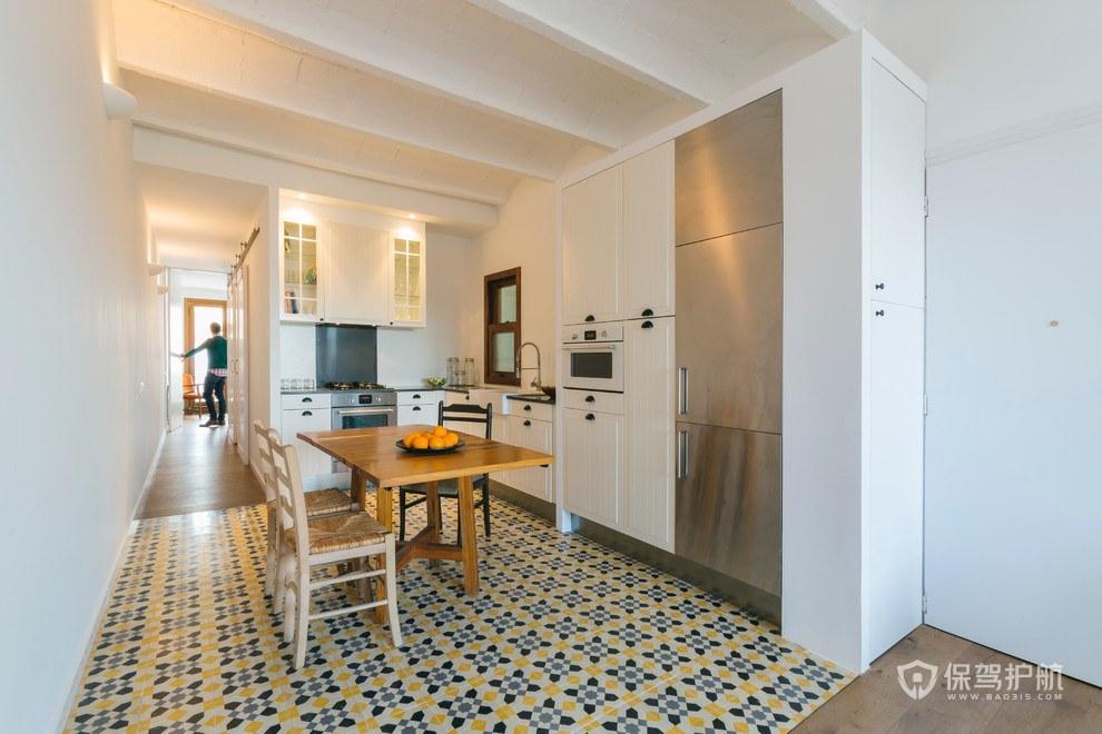 70平現代歐式二居室廚房餐廳裝修效果…