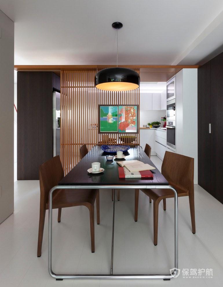 100平現代混搭兩室兩廳餐廳裝修效果…